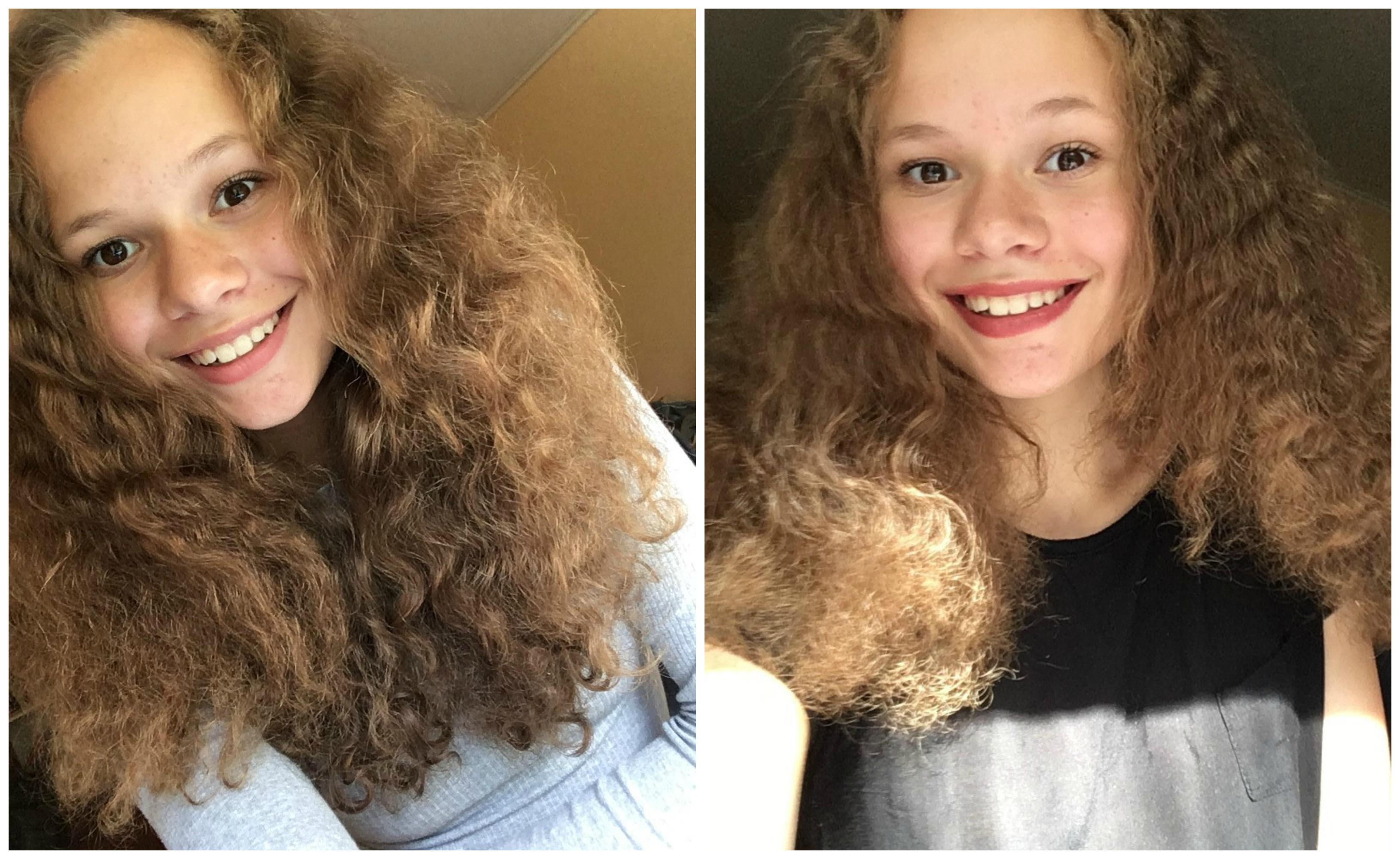 frissigt lockigt hår