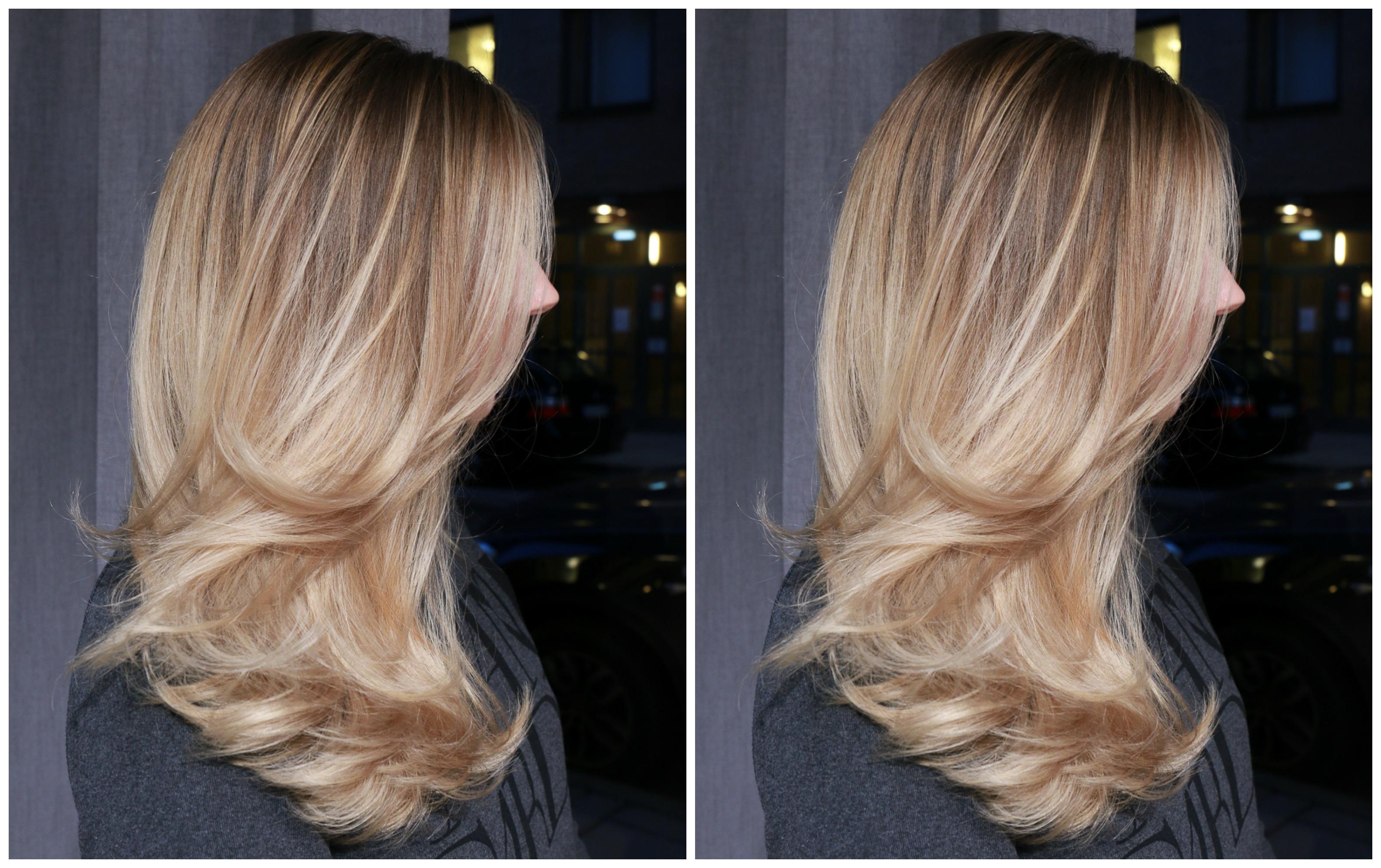 gult hår vid blekning