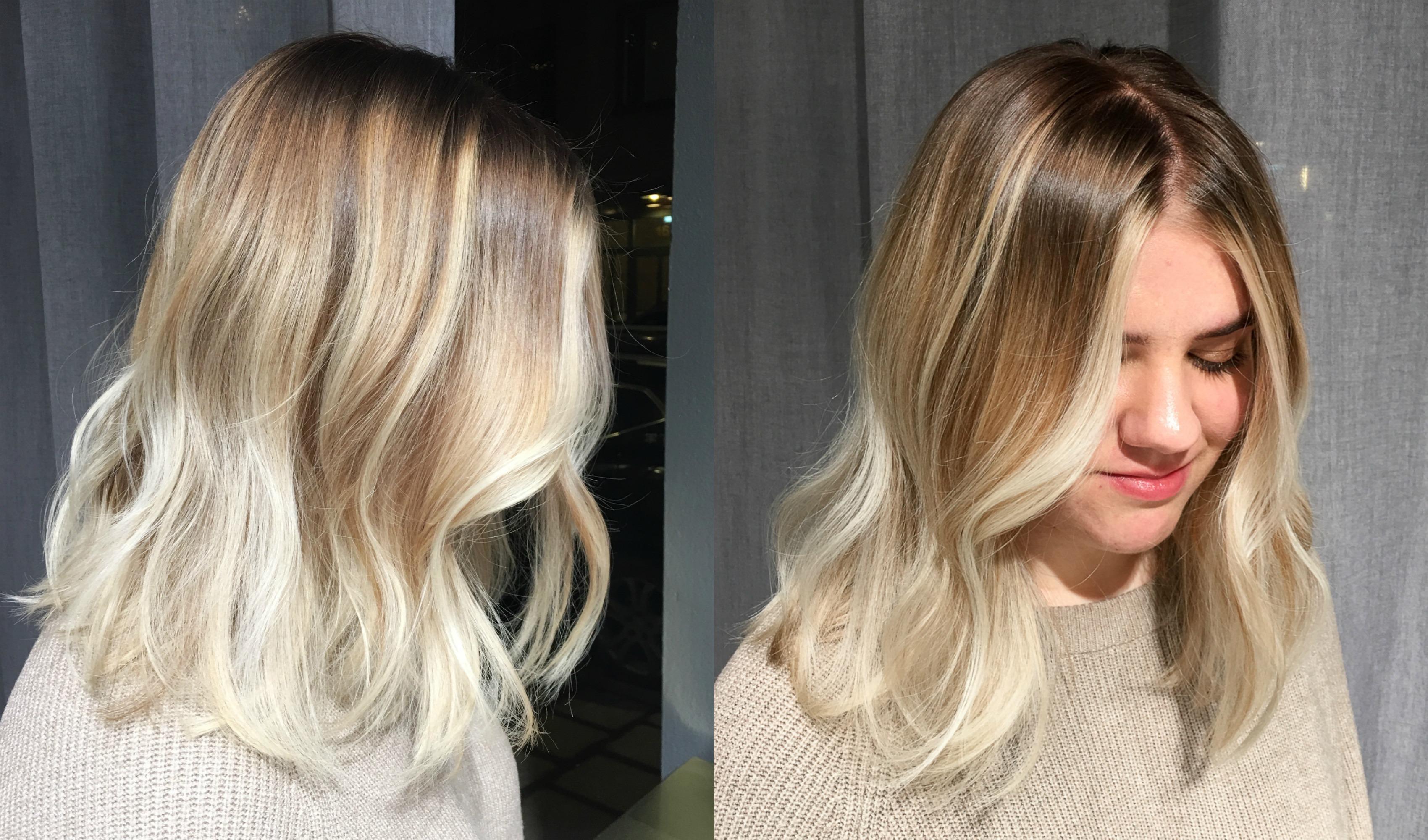 intensivtoning på blekt hår