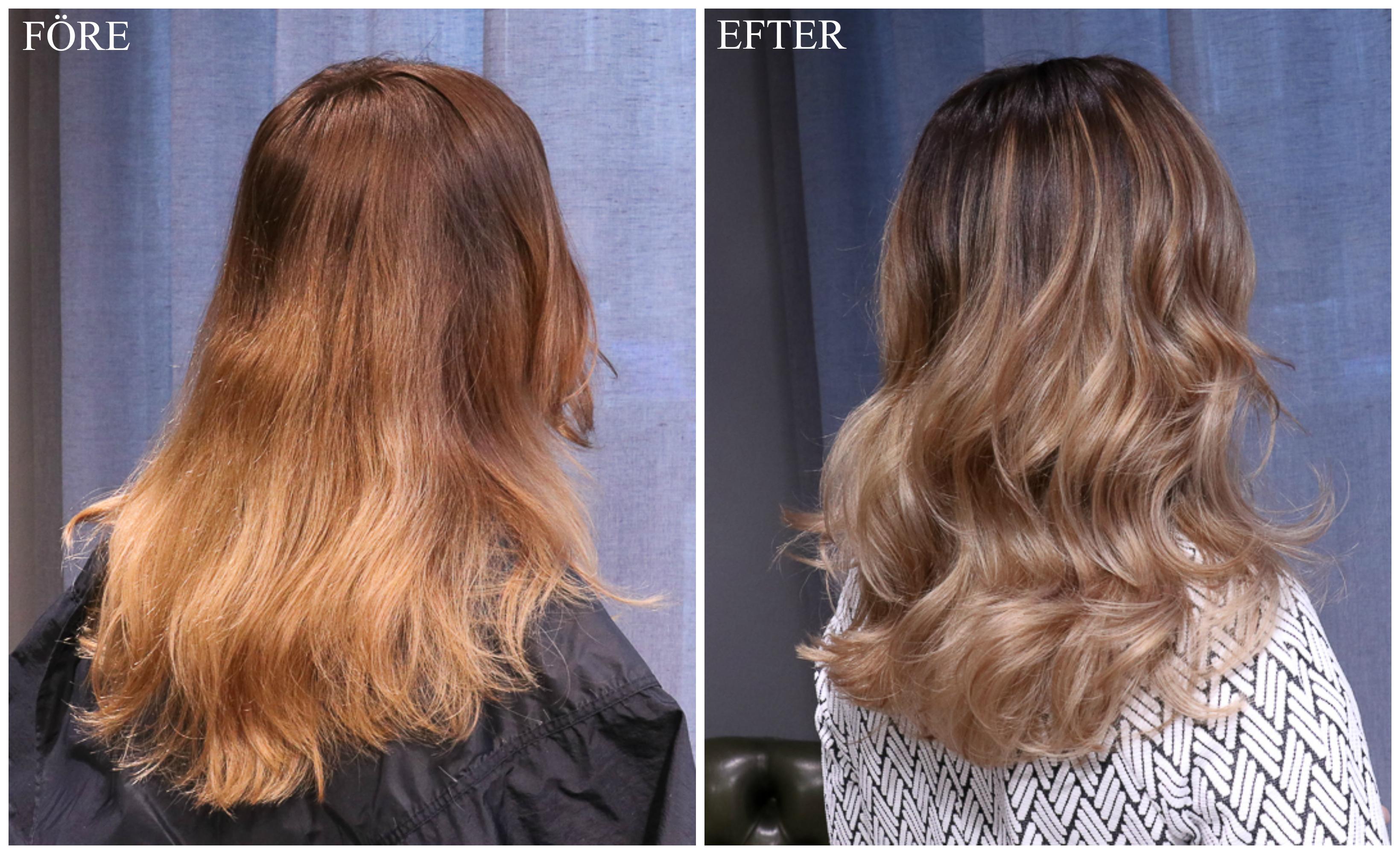 beige brun hårfärg