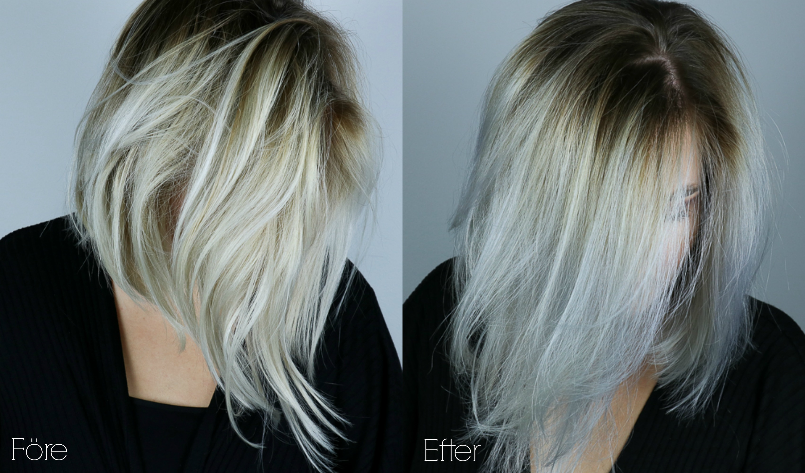 toning på blekt hår