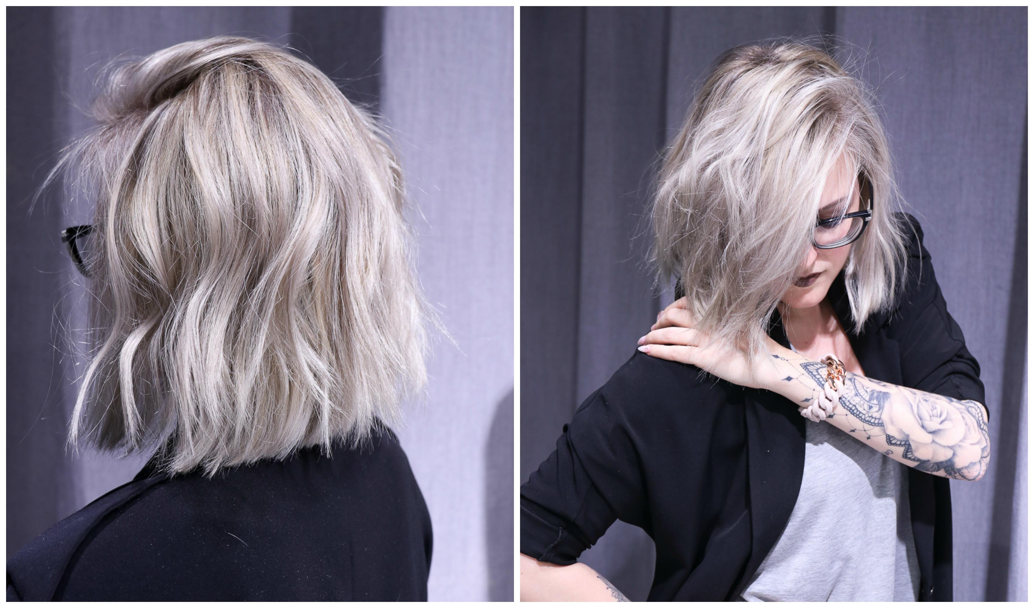 rakt avklippt hår