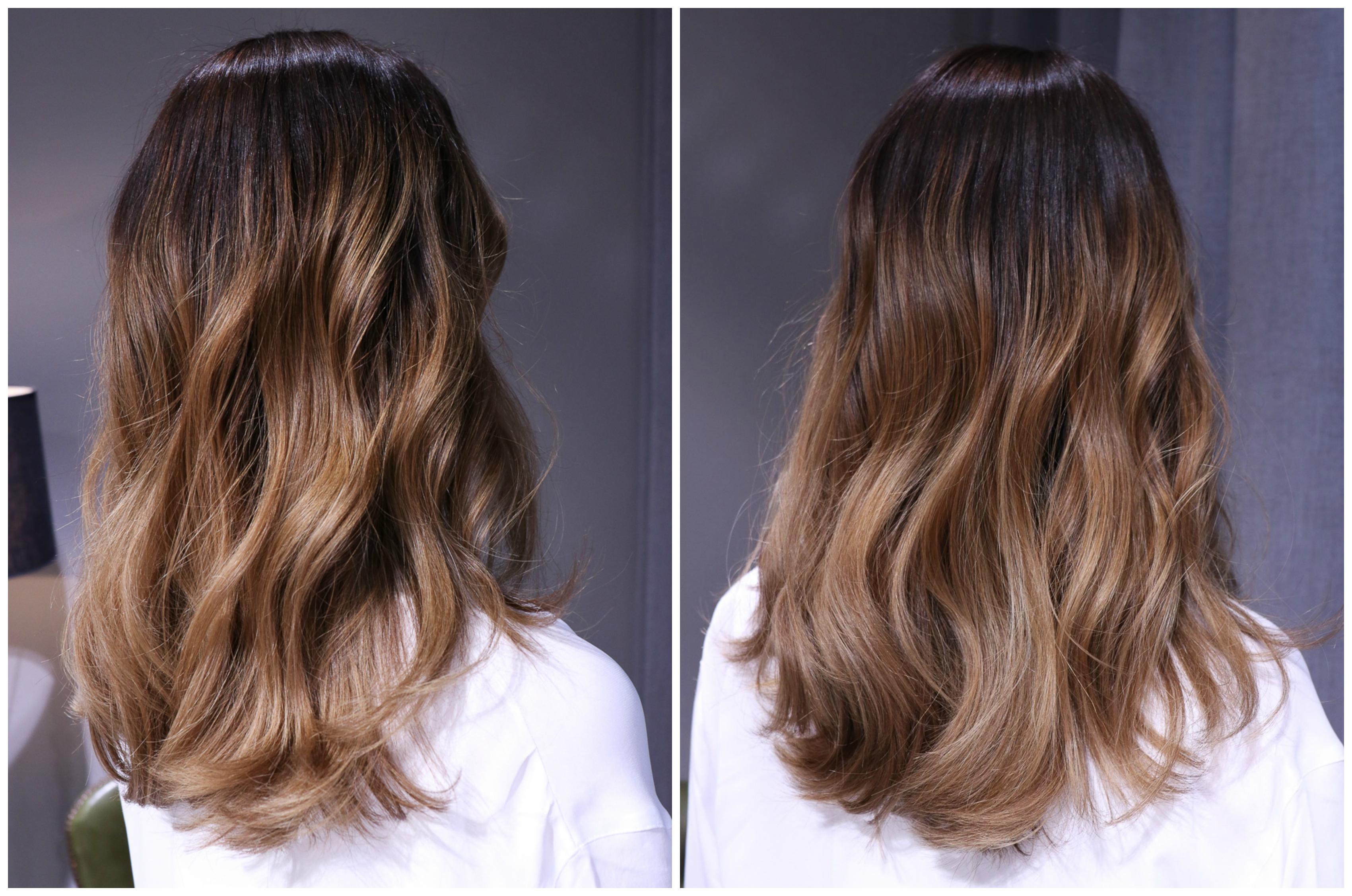 klippning mellanlångt hår