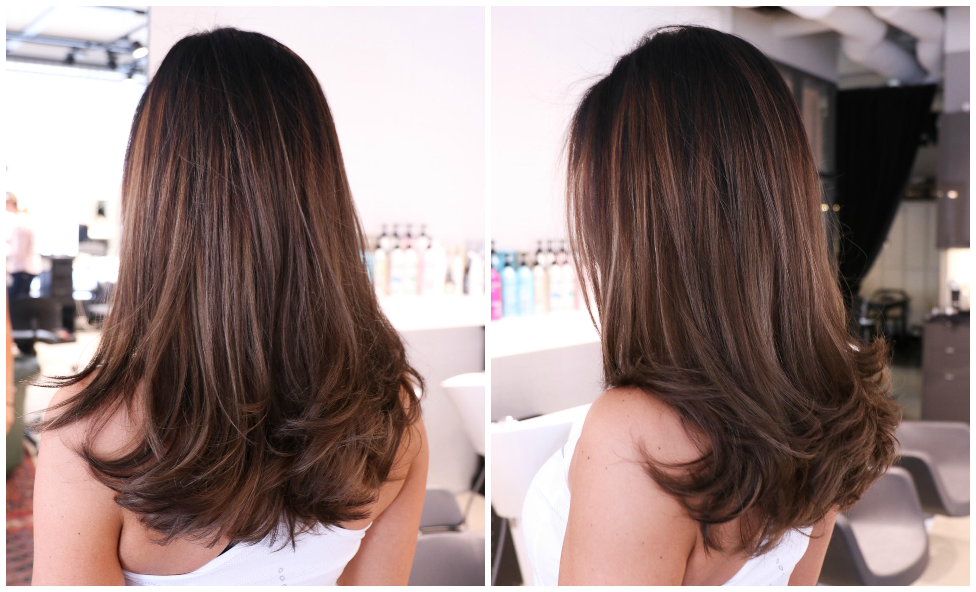 snygg brun hårfärg