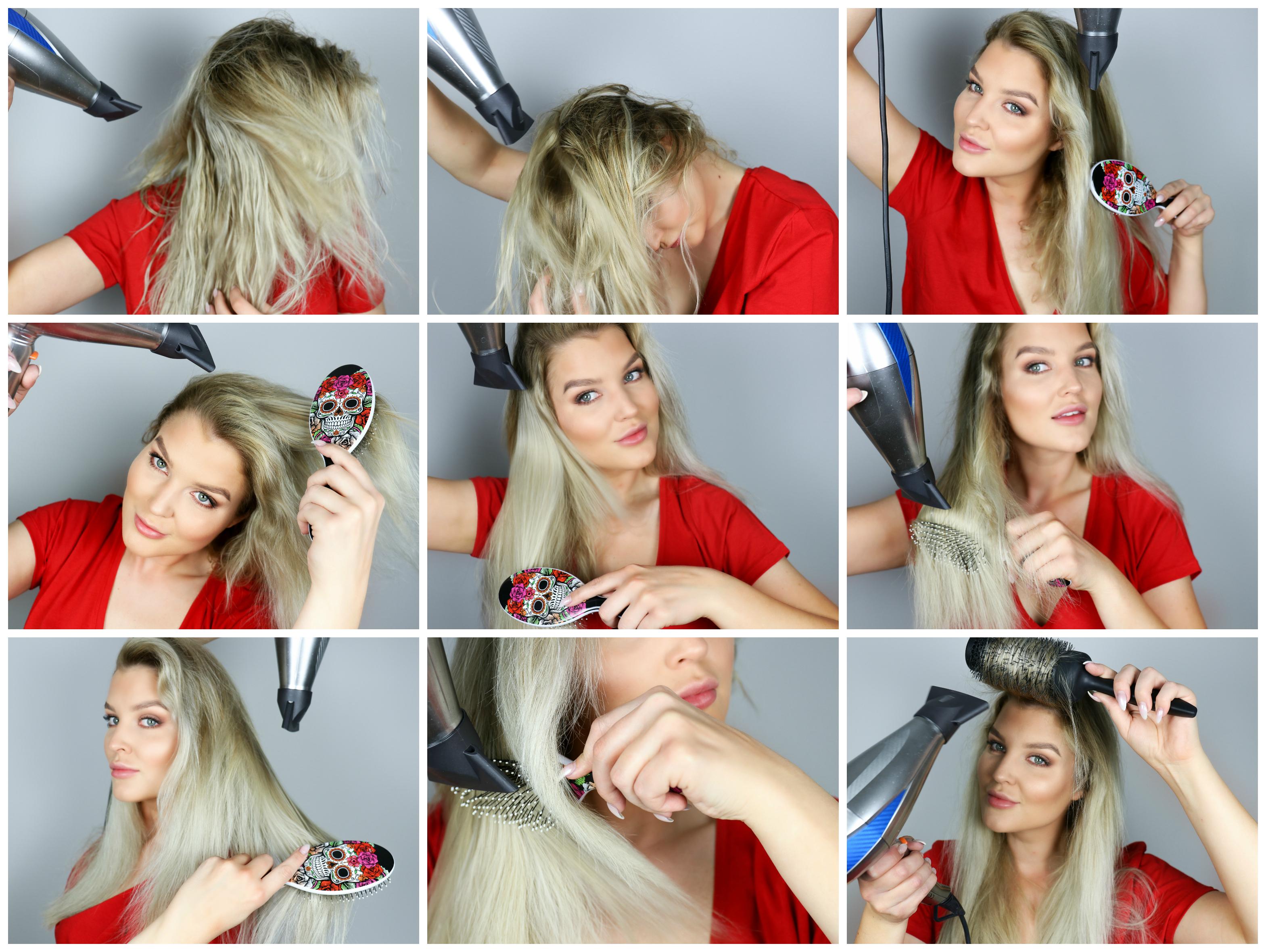 föna håret volym