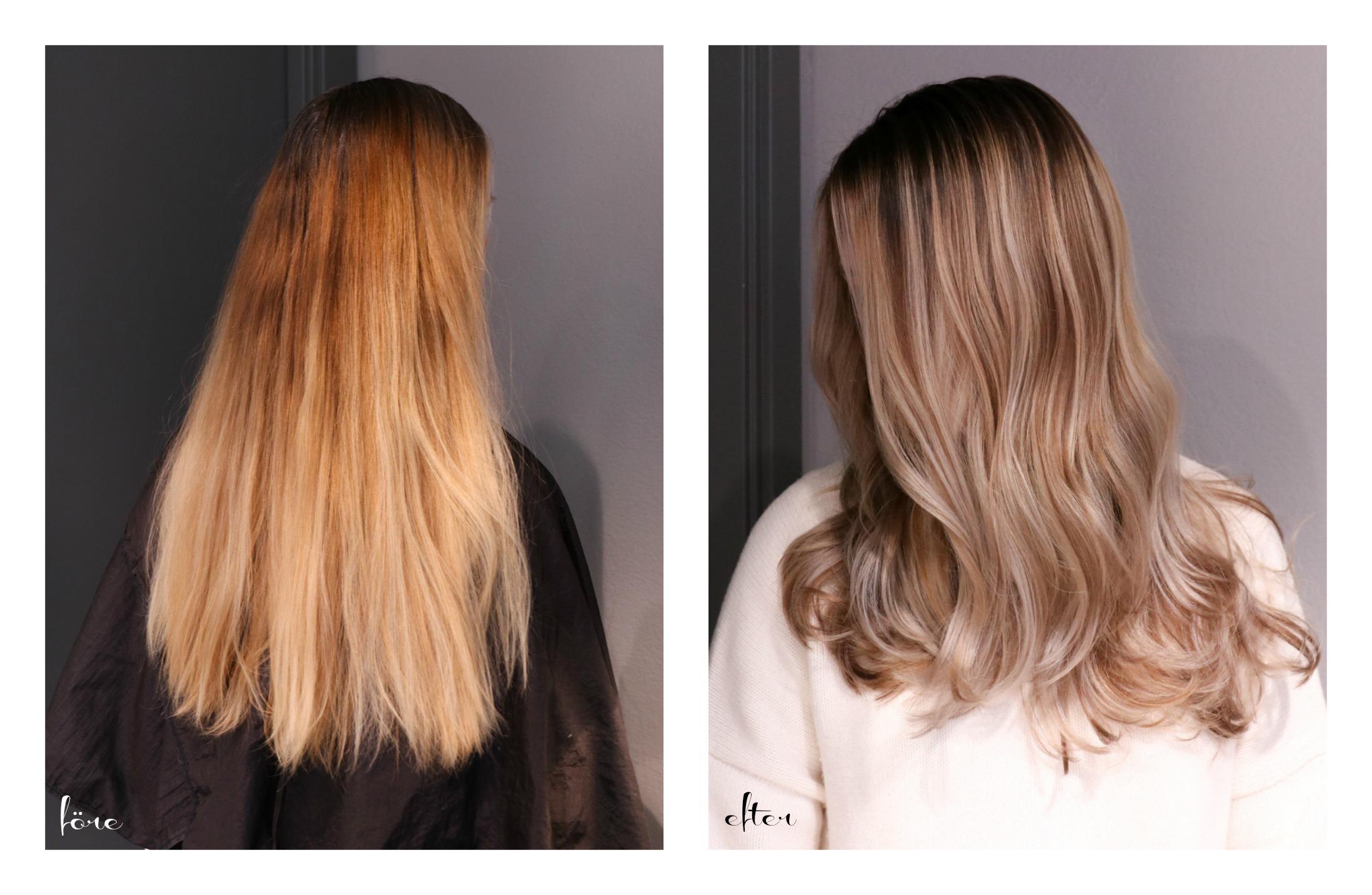 ta bort orange hårfärg